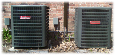 Air Experts installs central air conditioning units by Goodman
