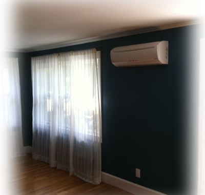 Install a ductless mini-split in your bedroom and or living room for heat and a/c